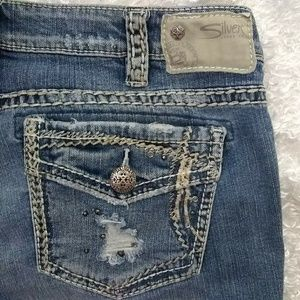 Silver Distressed Tuesday Baby Boot Jeans